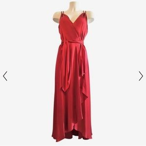 BCBG MAXAZRIA red silk gown